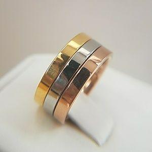 Jewelry - 3pcs plain Wedding Bands size 7